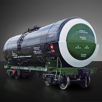 Railway-tank for creosote oil