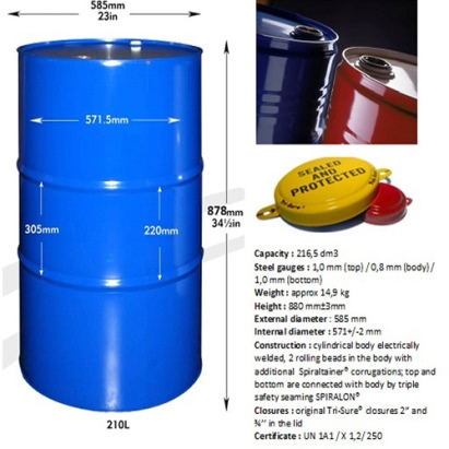 Steel-Drums for creosote oil