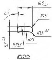 Titanium profile for medical implants (Bone Screws/Plates, Spine, etc.) #4112c