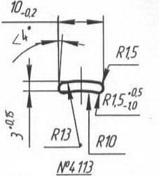 Titanium profile for medical implants (Bone Screws/Plates, Spine, etc.) #4113