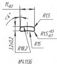 Titanium profile for medical implants (Bone Screws/Plates, Spine, etc.) #4113B