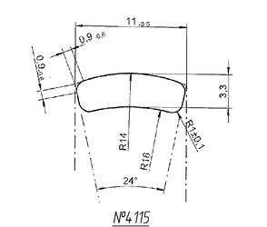 Titanium profile for medical implants (Bone Screws/Plates, Spine, etc.) #4115