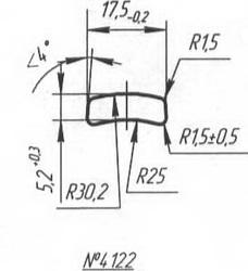 Titanium profile for medical implants (Bone Screws/Plates, Spine, etc.) #4122