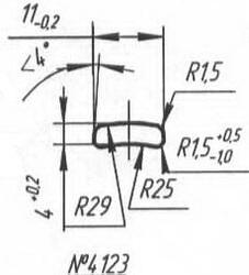 Titanium profile for medical implants (Bone Screws/Plates, Spine, etc.) #4123