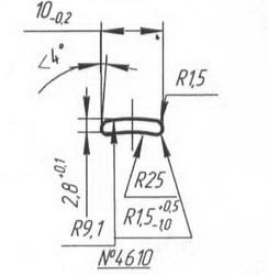 Titanium profile for medical implants (Bone Screws/Plates, Spine, etc.) #4610