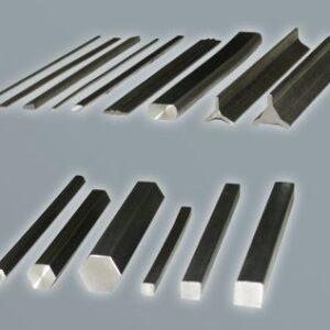 Titanium shaped profiles, square and flat bars