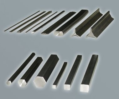 Titanium shaped profiles, square and flat bars